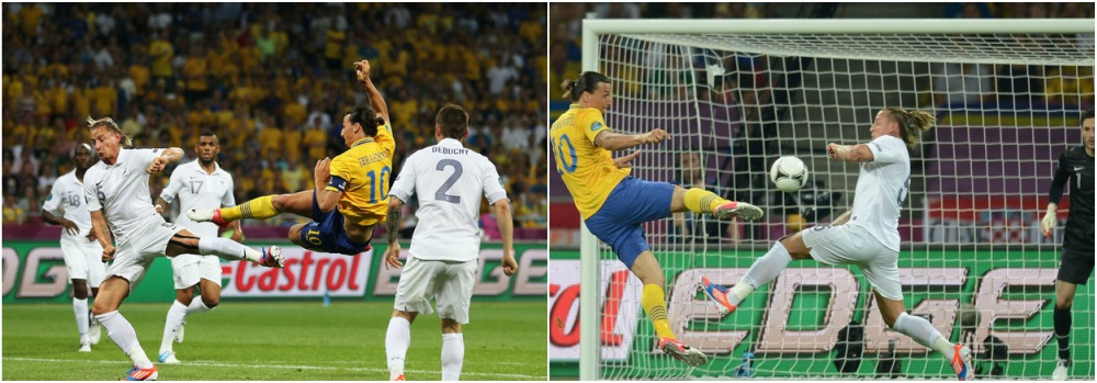 Zlatan Ibrahimovic best goals throughout career - Sweden vs France, Euro 2012
