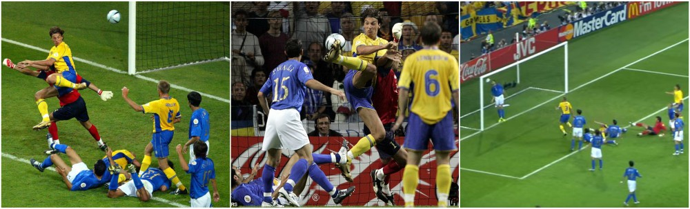 Zlatan Ibrahimovic best goals throughout career - Sweden vs Italy, Euro Championship 2004