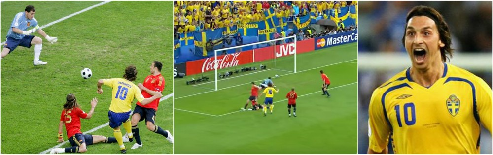 Zlatan Ibrahimovic best goals throughout career - Sweden vs Spain, Euro Championship 2008