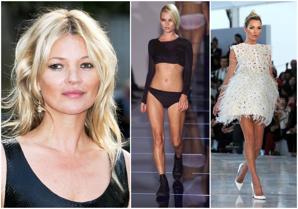 Kate Moss height 1.7m / 5'7""