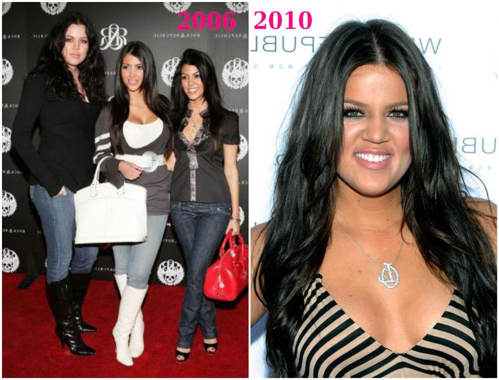 Khloe Kardashian extra kilos in 2006 and 2010