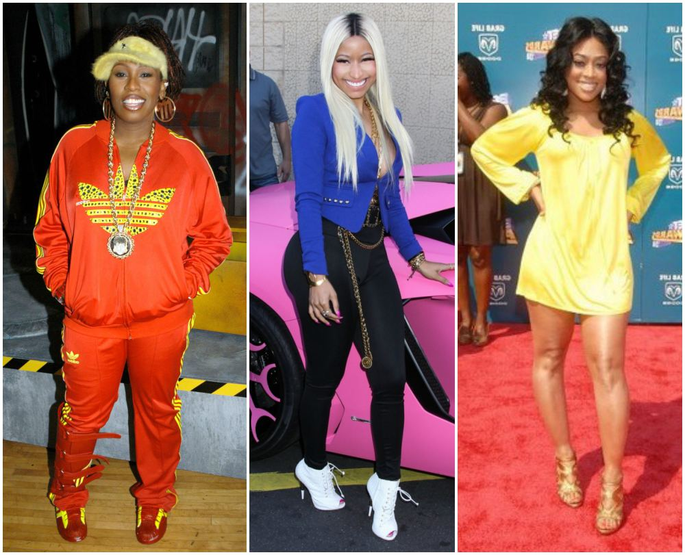 Missy Elliott, Nicki Minaj, Trina height 157cm / 5'1.8in