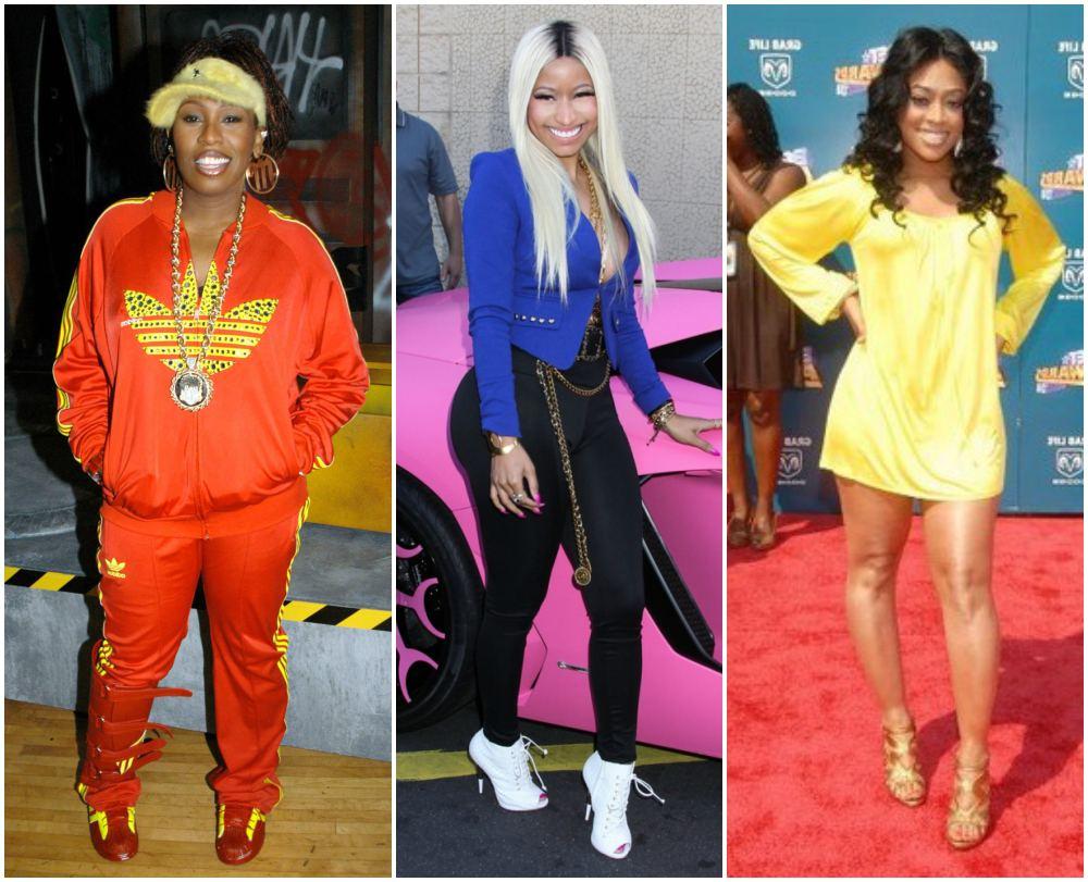 Missy Elliott, Nicki Minaj, Trina height 157cm / 5'1.8in