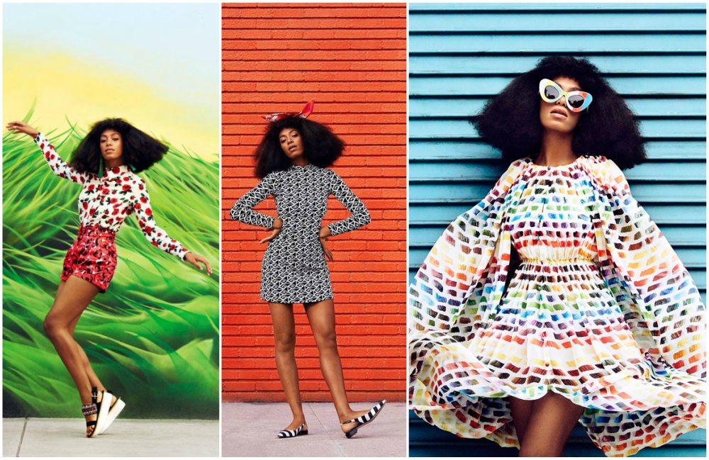 Solange Knowles as model for Harper`s Bazaar, 2014