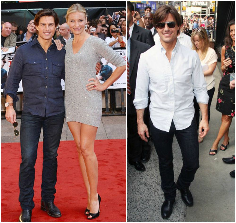 Tom Cruise`s height 167cm / 5'6 in
