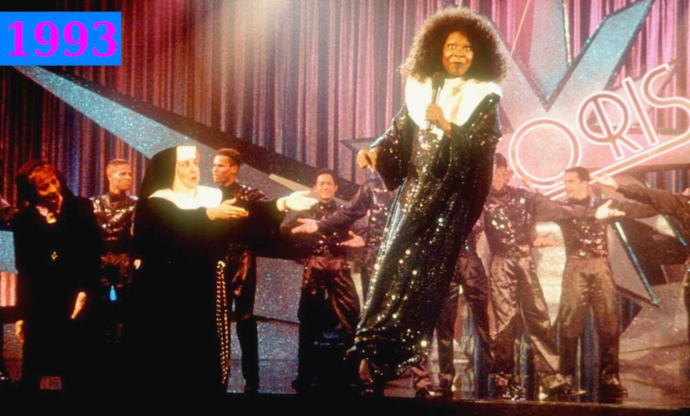 Whoopi Goldberg`s comedy roles - Sister Act 2: BACK IN THE HABIT, 1993