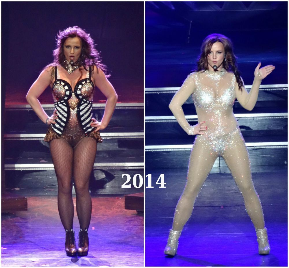 Britney Spears gained weight in 2014