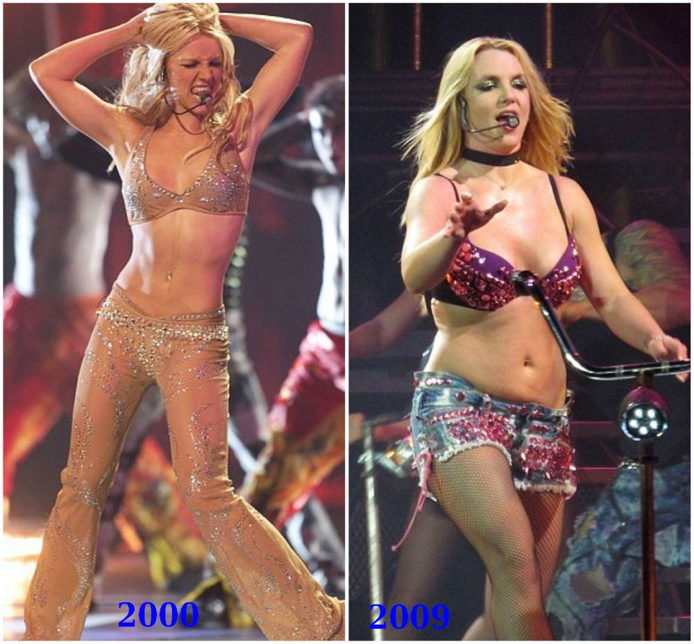 Britney Spears weight problems in 2009
