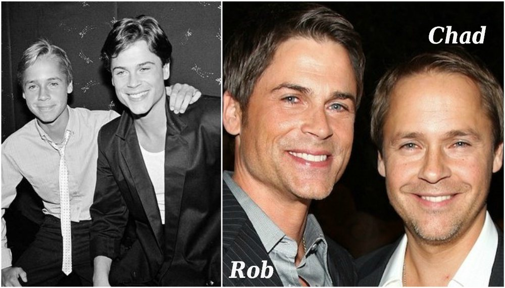 Famous siblings in Hollywood - Chad and Rob Lowe