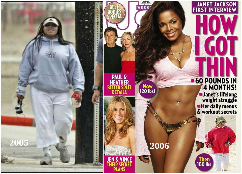 Janet Jackson weight changes in 2005 and 2006