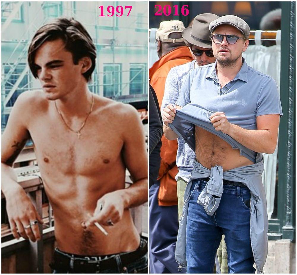 leonardo dicaprio then (1997) and now (2016)