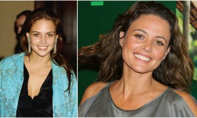 Josie Maran`s eyes and hair color