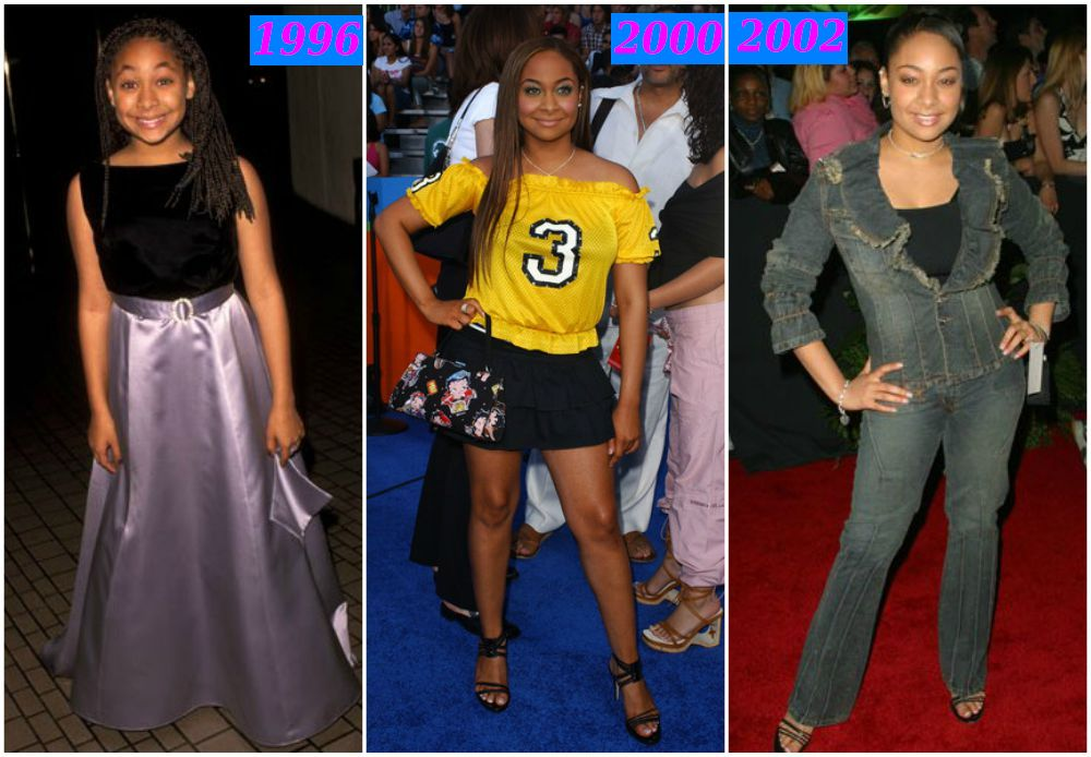 Raven-Symone`s weight loss years 1996, 2000 and 2002