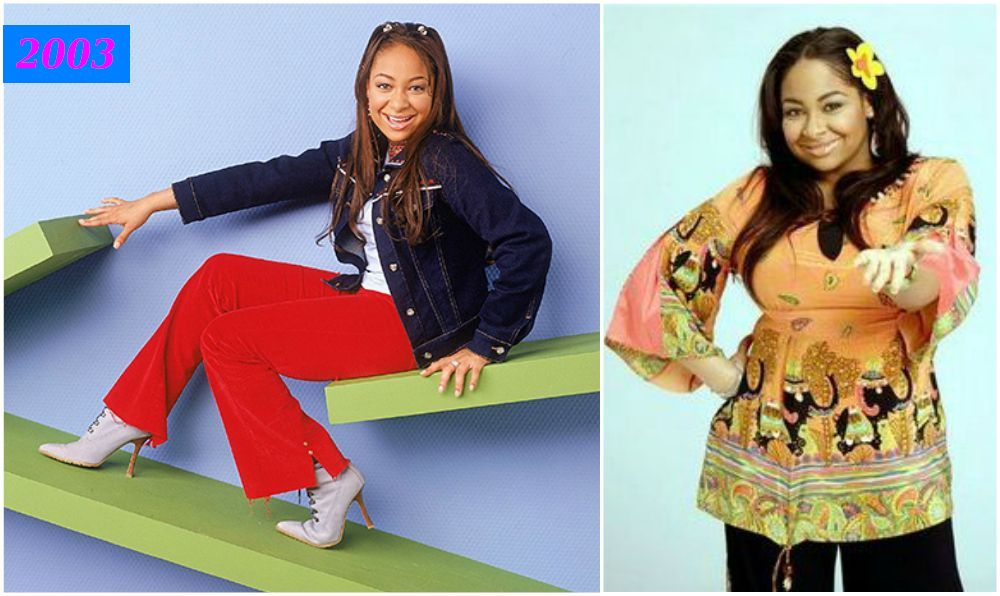 Raven-Symone`s gained weight from 2003 to 2007