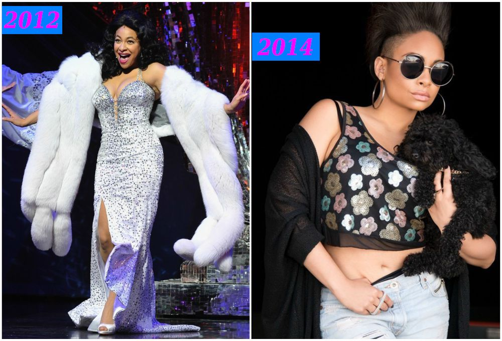 Raven-Symone`s weight loss in 2012 and 2014