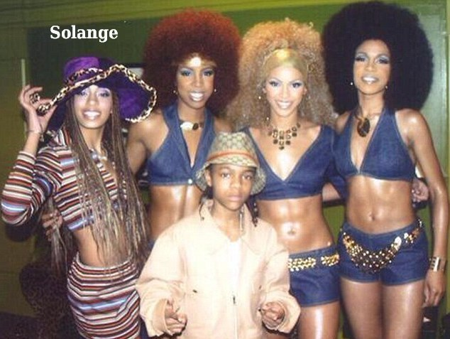 Young Solange Knowles with Destiny's Child and Lil Bow Wow