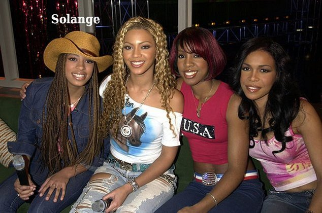 Young Solange Knowles with Destiny's Child