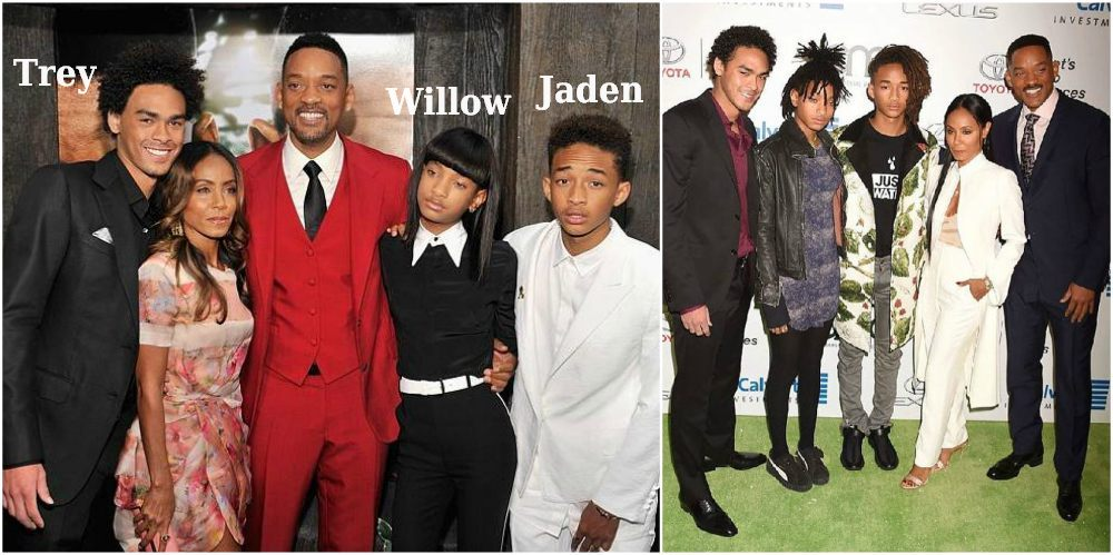 Will Smith`s with his family - sons, daughter and wife