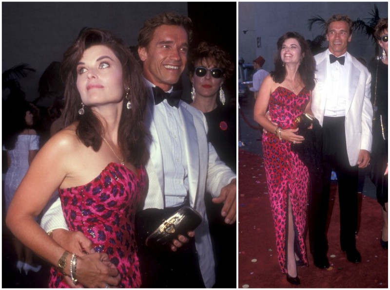 Arnold Schwarzenegger with his ex-wife Maria Shriver