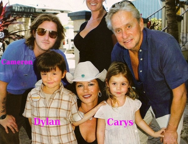 Catherine-Zeta Jones and Michael Douglas` children - Cameron, Dylan and Carys