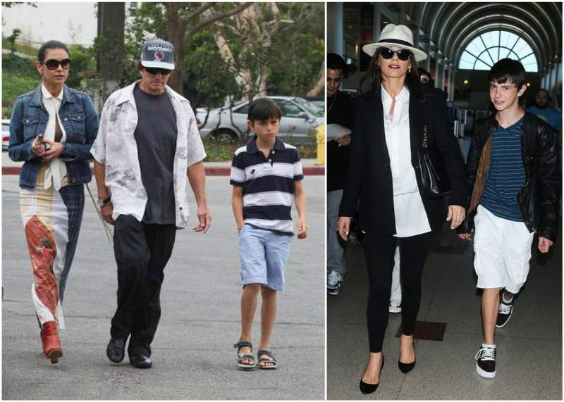 Catherine-Zeta Jones and Michael Douglas` children - son Dylan Douglas