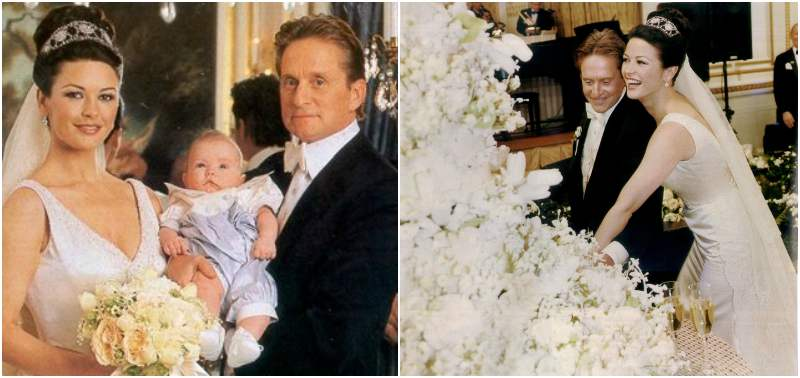 Catherine-Zeta Jones and Michael Douglas` wedding