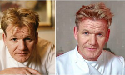 Gordon Ramsay`s eyes and hair color