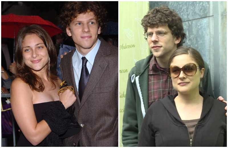 Jesse Eisenberg's family - wife Anna Strout