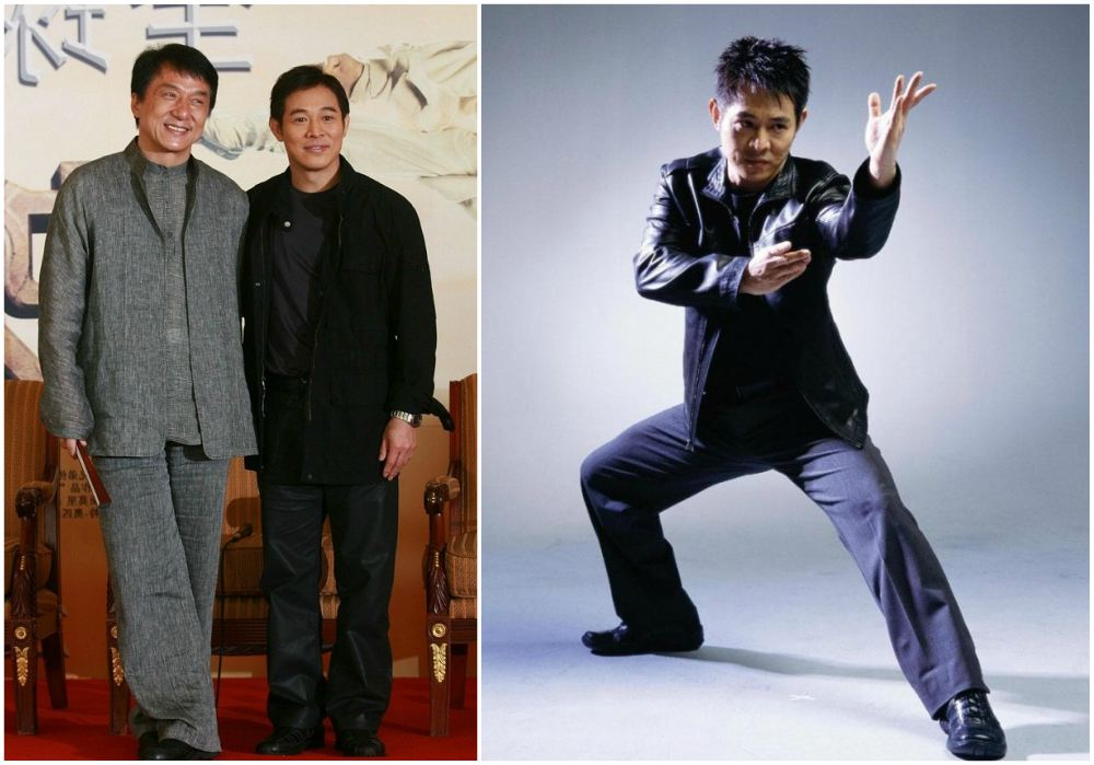 Jet Li`s height 165 cm / 5'5 in