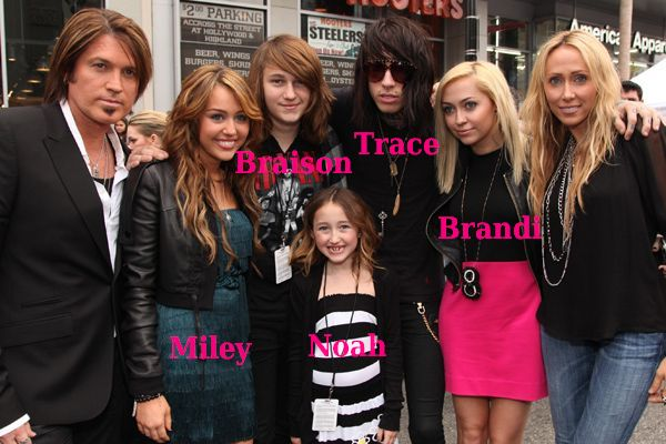 Miley Cyrus family - siblings and parents