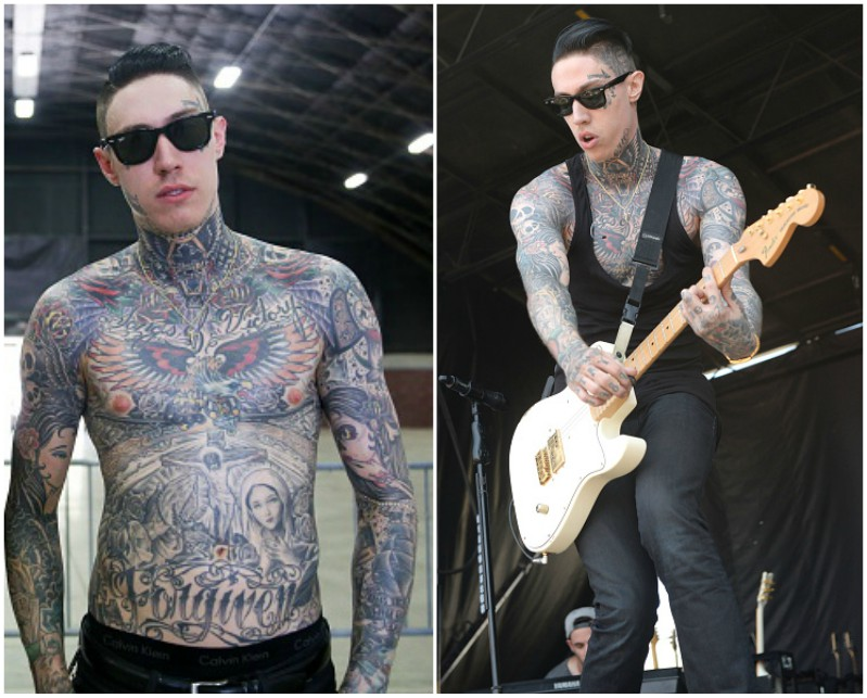 Miley Cyrus siblings - half-brother Trace Cyrus