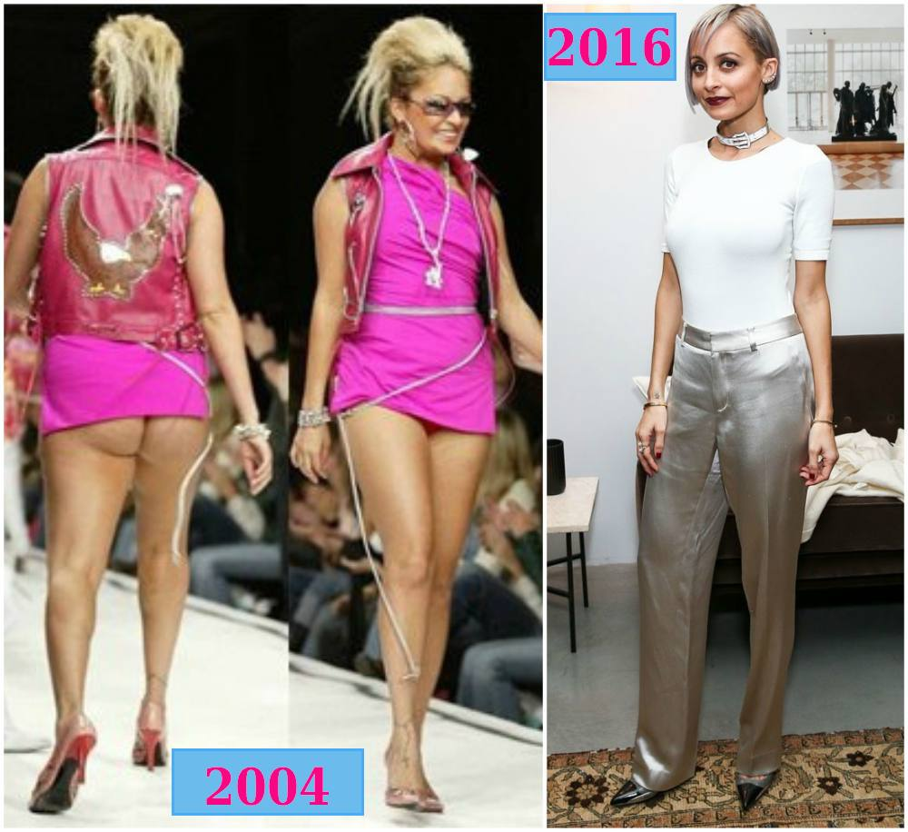 Nicole Richie weight changes from 2004 to 2016