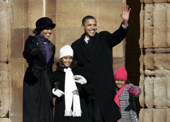 Barack Obama`s children: daughters Malia and Sasha Obama