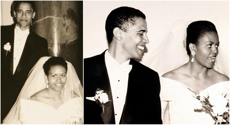 Barack Obama`s wedding with Michelle