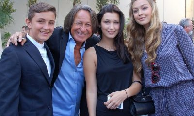 Bella Hadid with father, sister and brother