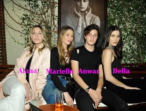 Bella Hadid siblings - half-sisters Marielle and Alana