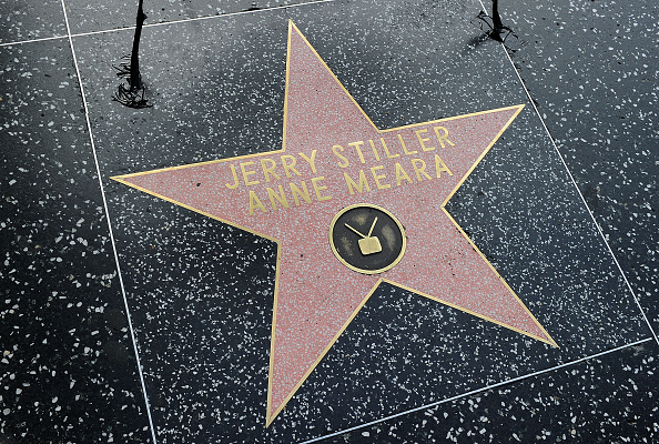 Anne Meara and Jerry Stiller star on the Hollywood Walk of Fame