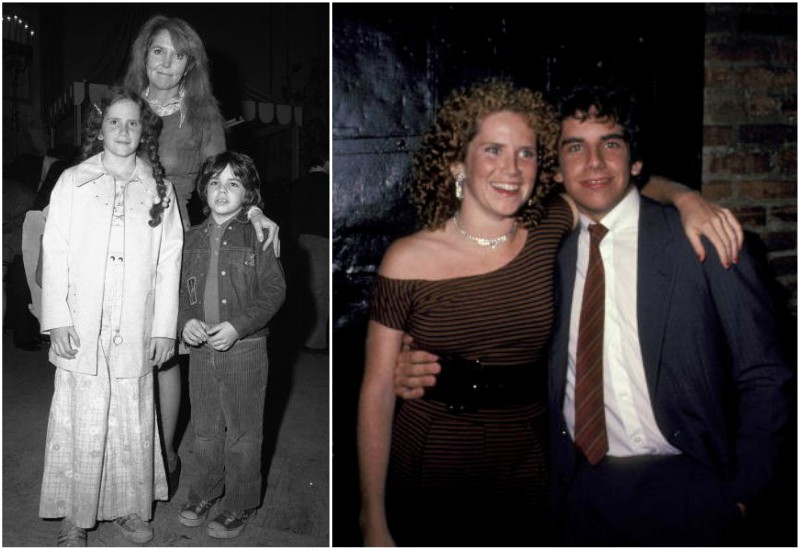 Ben Stiller`s with mother Anne Meara and sister Amy Stiller