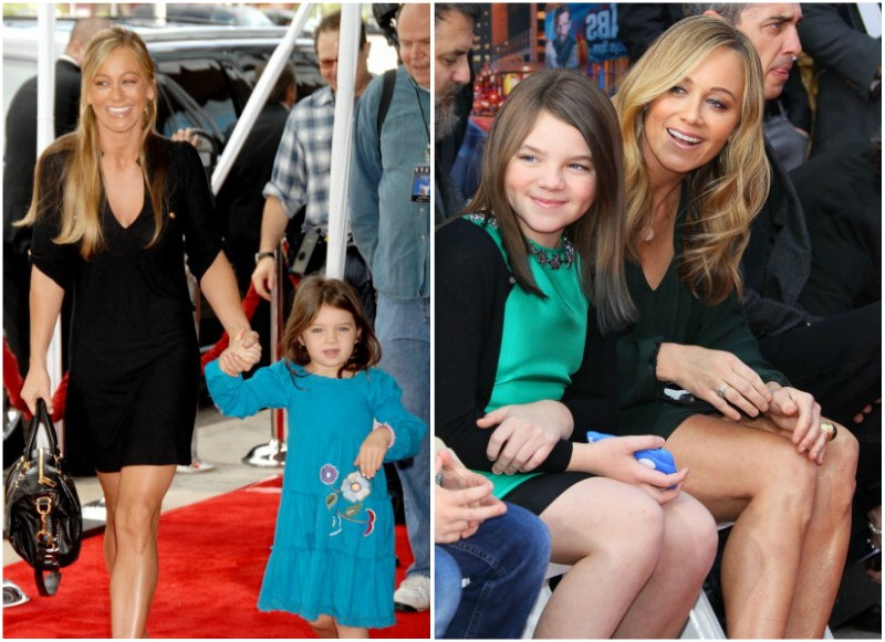 Ben Stiller`s family - wife Christine Taylor and daughter Ella Olivia Stiller