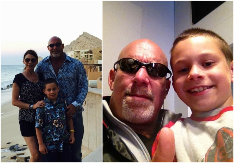Bill Goldberg`s family - son Gage and wife