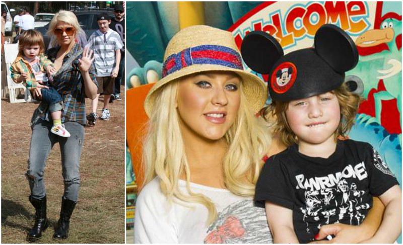 Christina Aguilera's children - son Max Liron Bratman