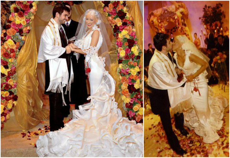 Christina Aguilera's wedding with Jordan Bratman