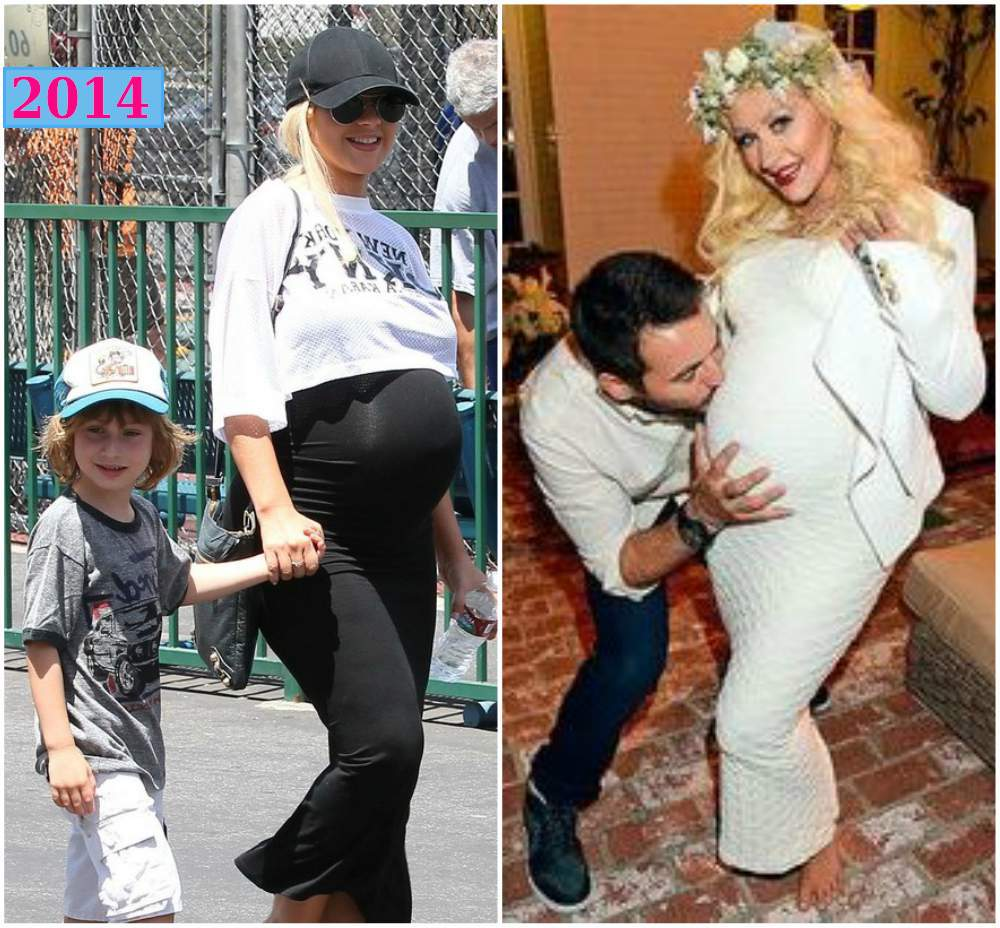 Christina Aguilera pregnant with the second child - 2014