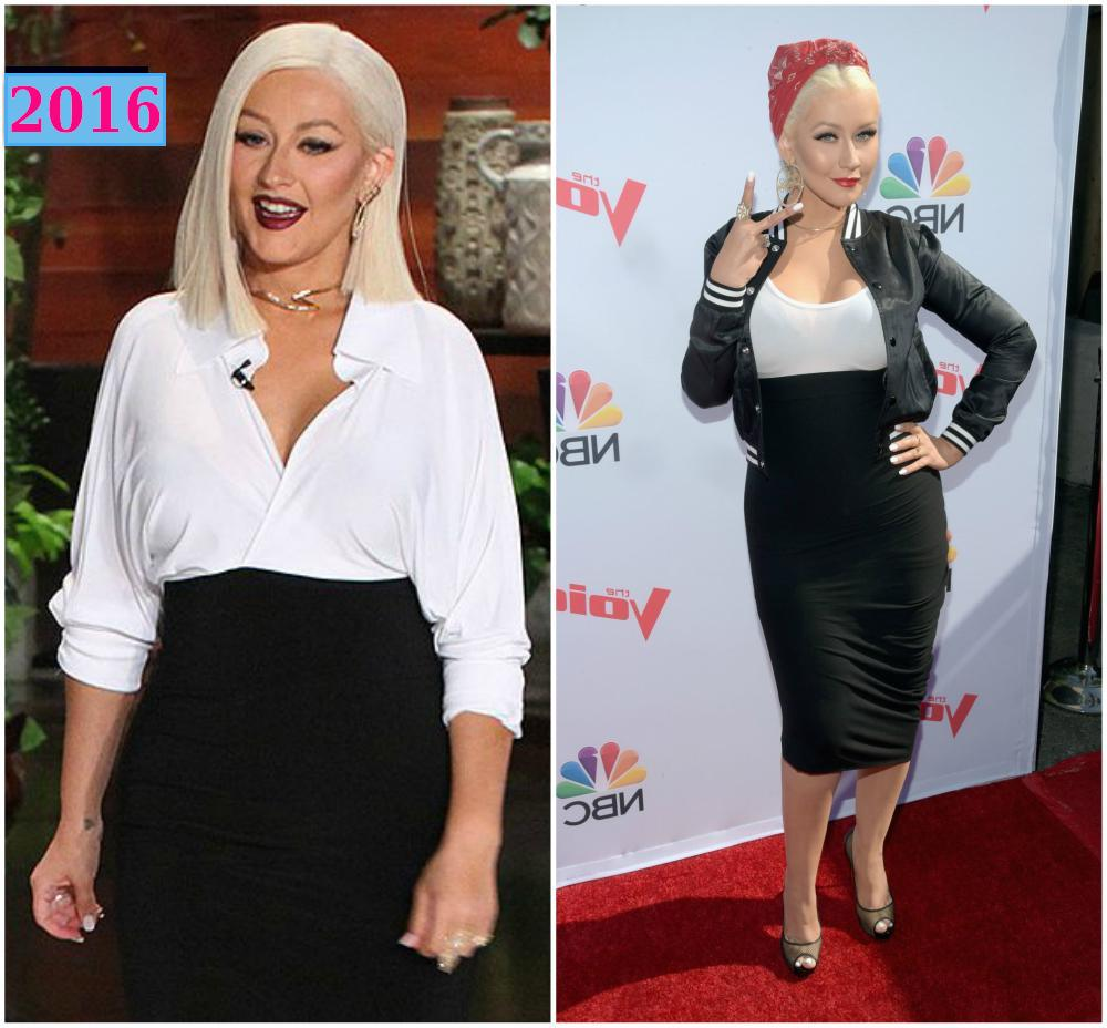 Christina Aguilera perfect body in 2016