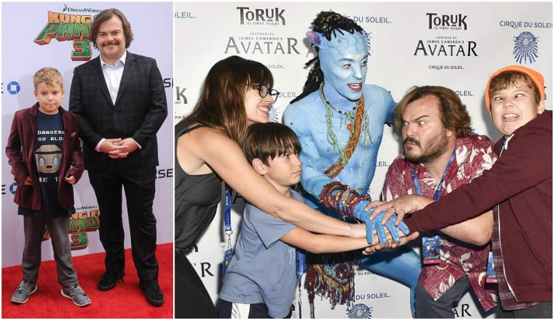 Actor Jack Black`s family