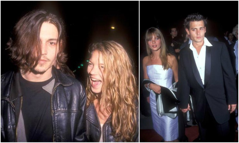 Johnny Depp's lovers - Kate Moss