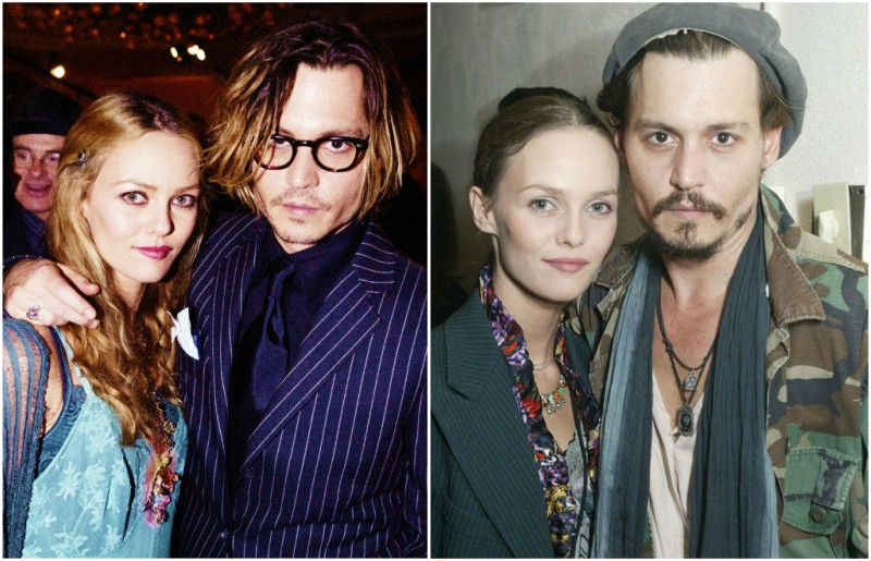 Johnny Depp's lovers - Vanessa Paradis
