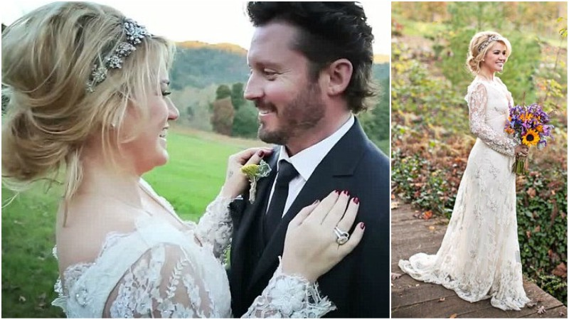 kelly clarkson wedding hair images