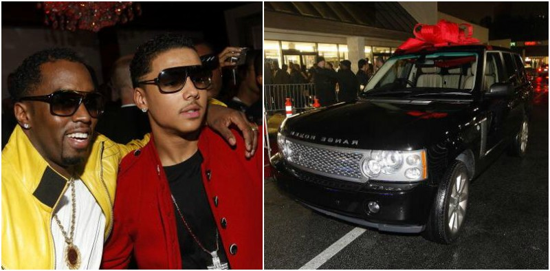 Puff Daddy (P. Diddy, Sean Combs) step-son Quincy Brown 16th birthday