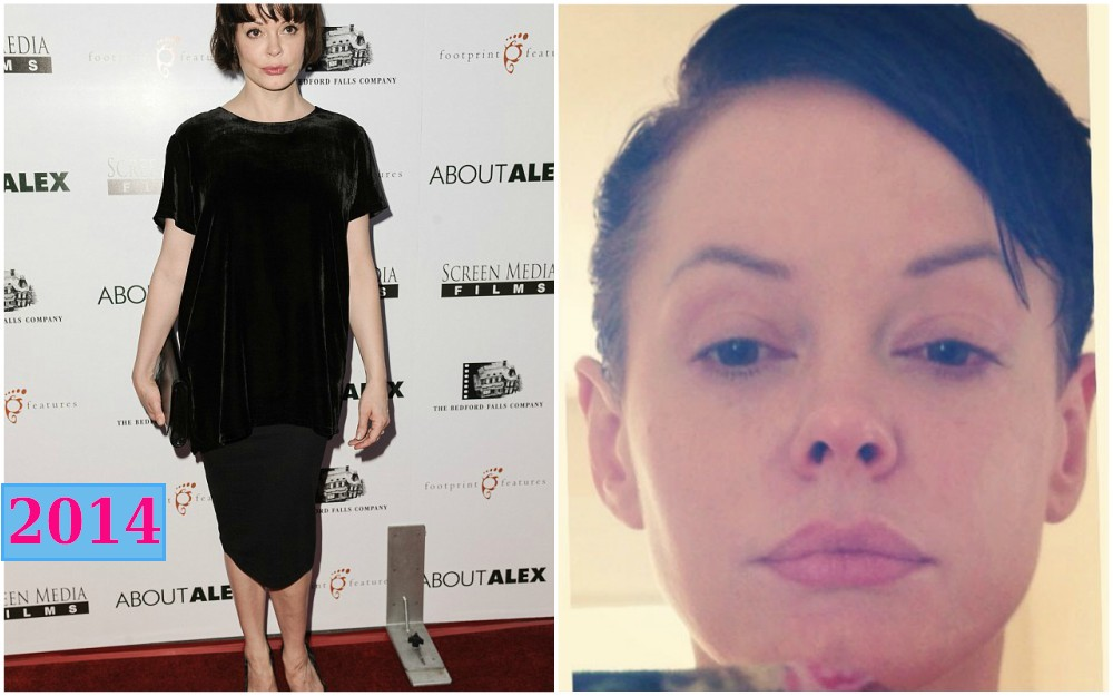 rose mcgowan short haircut in 2014